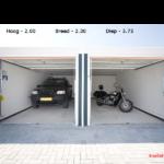 Garageboxen Adonisweg afmetingen